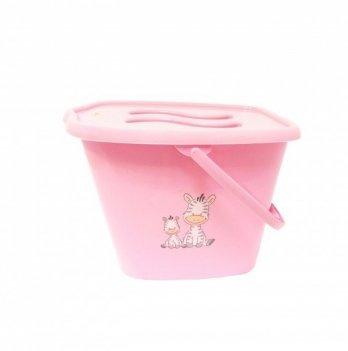 Ведерко для использованных подгузников Maltex, Зебра, розовое